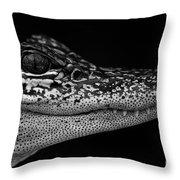 Crock's Look Black And White Throw Pillow