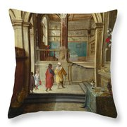 Croesus And Solon Throw Pillow
