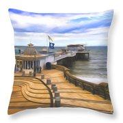 Cromer Pier Norfolk Throw Pillow