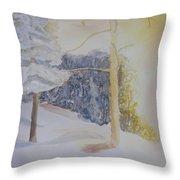 Crooked Creek Morning Light Throw Pillow