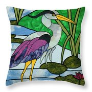 Crooked Creek Throw Pillow