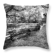 Crooked Fence Throw Pillow