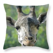 Crooked Grin Throw Pillow