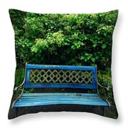 Crooked Little Bench Throw Pillow