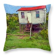 Crooked Little House - Orange Cats Throw Pillow