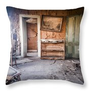 Crooked Painting Throw Pillow