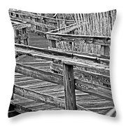 Crooked Path Throw Pillow