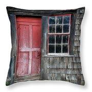Crooked Red Door Throw Pillow