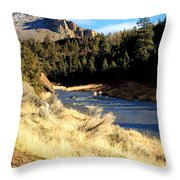 Crooked River December Morning Throw Pillow