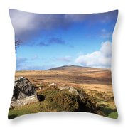 Crooked Tree At Feather Tor, Staple Throw Pillow