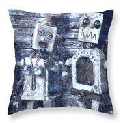 Crooks In Machines  Throw Pillow