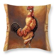 Crooner The Rooster Throw Pillow