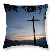 Cross On The Mountain Throw Pillow