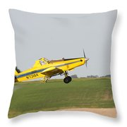 Crop Duster Throw Pillow