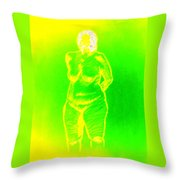 Croquis In Yellow And Green Throw Pillow