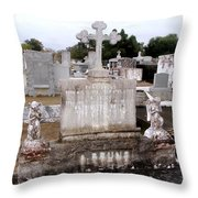Cross And Angels Throw Pillow