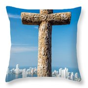 Cross And City Throw Pillow