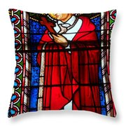Cross And Red Robe Throw Pillow