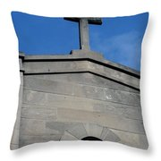 Religious Art Cross Architectural Throw Pillow