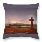 Cross At Sunset Throw Pillow