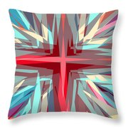 Cross Burst Throw Pillow