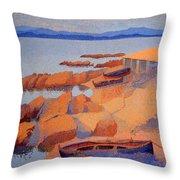 Cross' Coast Near Antibes Throw Pillow