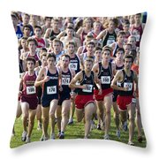 Cross County Race Throw Pillow