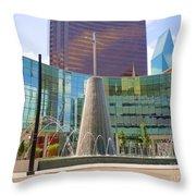Cross Fountain #1 Throw Pillow