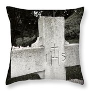 Cross Iconic Ihs Throw Pillow