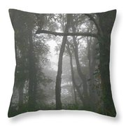 Cross In The Woods Throw Pillow