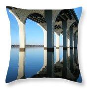 Cross Lake Bridge 2 Throw Pillow