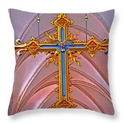 Cross Of Church Of Our Lady Throw Pillow