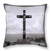 Cross Of Jesus Christ Throw Pillow