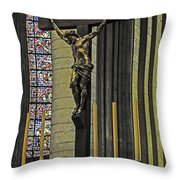Cross Of Rouen Cathedral Throw Pillow