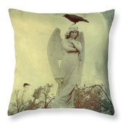 Cross Or Angel Throw Pillow