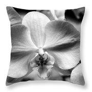 Cross Orchid Throw Pillow