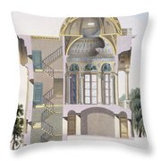 Cross Section Of The Pavilion Throw Pillow