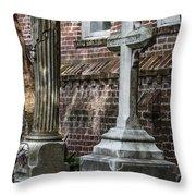 Cross Tombstone Throw Pillow