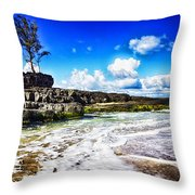 Cross-waves Throw Pillow