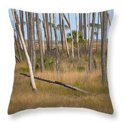 Crossed Trees Throw Pillow