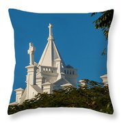 Crosses Above The Trees Throw Pillow