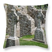 Crosses Of Clonmacnoise Throw Pillow