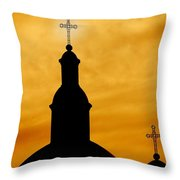 Crosses On Steeples Throw Pillow