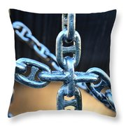 Crossing Chains Throw Pillow