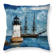 Crossing Into The Harbor Throw Pillow