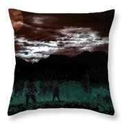 Crossing Moon Throw Pillow