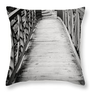 Crossing Over - Black And White Throw Pillow