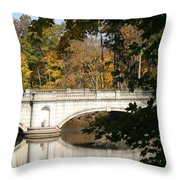 Crossing Over Into Autumn Throw Pillow