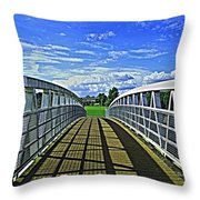 Crossing Over Bridge Throw Pillow