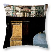 Crossing The Arno Throw Pillow